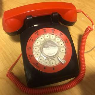 BRAND NEW ROTARY DIAL TELEPHONE IN VINTAGE 1960s Design- LIMITED COLOR EDITION