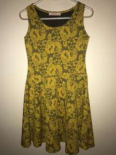 GTWfab Floral Yellow Dress