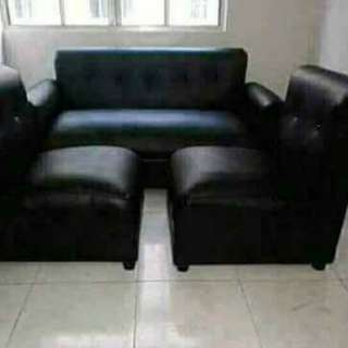 BULKY SOFA SET with 2 pillows and foot stool