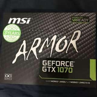 MSI Armor GTX 1070 8GB OC