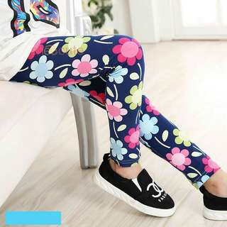 Korean Stylist Buterfly&Floral Printed Girl Leggings Pants
