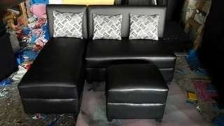 SOFA SETS with 2 pillows and foot stool