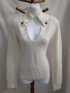 Knitted beautiful warm sweater