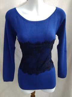 Knitted office wear - dark blue