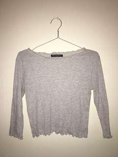 Brandy Melville Grey long sleeve top