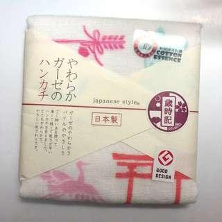 日本100%棉質手帕