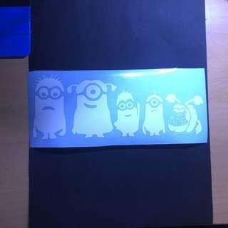 Minions Family car sticker
