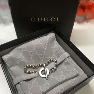 Gucci 銀手鏈
