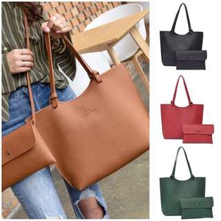 2 IN 1 PU LEATHER BAG