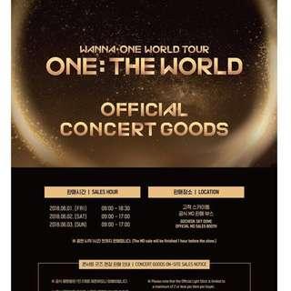🚚 姜丹尼爾 貼紙組 世界巡迴演唱會週邊 Wanna One ONE: THE WORLD