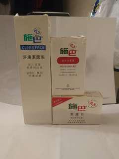 施巴 💯🆕PH5.5 Clear Face 淨膚潔面泡及潔膚皂一套加送🆓💯温和洗髮露一支