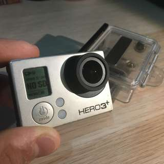 GoPro Hero 3+ Black edition(faulty - freezing after openning) + underwater housing.... YOU CAN BUY ONE THING OR MORE IF YOU WANT
