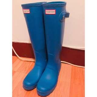Hunter 雨靴霧藍 (附鞋盒)