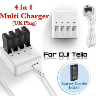 *UK PLUG* DJI Tello Multi Battery Charger (Ask about our battery combo!)