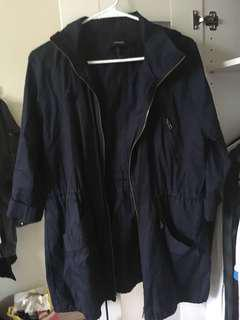 F21 Navy Blue Light Coat