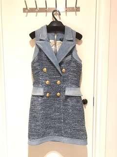 Balmain Vest Suit Dress Tweed 背心裙 Givenchy Balenciaga