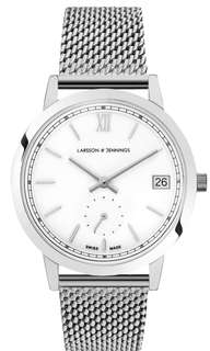 Beautiful Contemporary Unisex Larsson & Jennings Silver Saxon Wristwatch