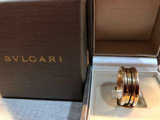 Authentic Bvlgari Rose Gold Ring