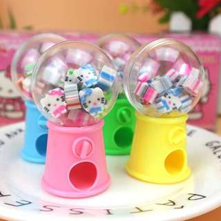 🚚 Hello Kitty Eraser Mini Dispenser Vending Machine Toys