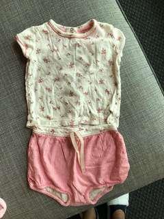 Petit bateau 18 month baby girl set