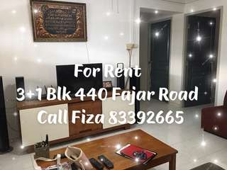 3+1 Blk 440 Fajar Road