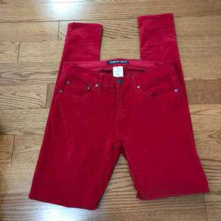 Red corduroy pants