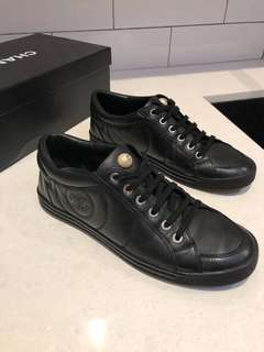 Chanel Leather Pearl Sneakers