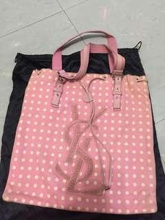 Ysl 粉紅波點袋