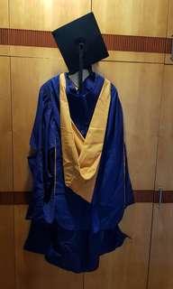 NUS Graduation Gown with garment bag (Ladies)