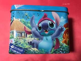 史迪仔 stitch 音樂盒 飾品盒 鐵盒