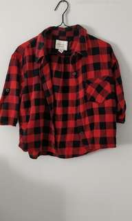 F21 Cropped Plaid