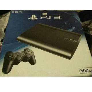 ps3 super slim 500gb with one original controller