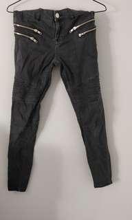 Black Motorcross Jeans