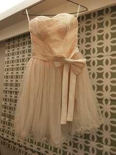 🚚 伴娘婚紗小禮服亮片串珠蓬紗裙