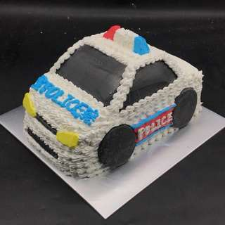 警察警車蛋糕 磅半
