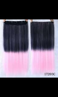 (NO INSTOCK!)*BEST SELLING😍Preorder dip dye ombre Gradient straight clip on hair extension *Waiting time 15 days after payment is made *chat to buy to order