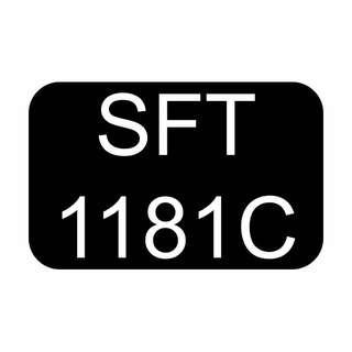 GOLDEN BIDDED NUMBER CAR REGISTRATION PLATE 1181 SFT1181C