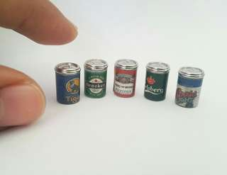 Miniature Beer Cans set