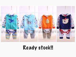 3 in 1 baby gift set, romper hoodies pant