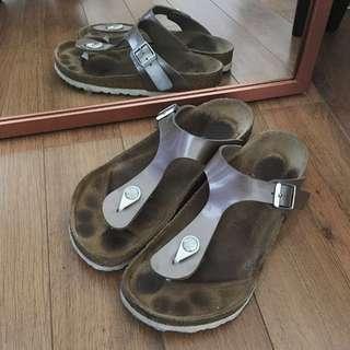 BIRKENSTOCK leather Gizeh Sandal UK37