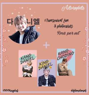 FANSUPPORT Kang Daniel Transparent fan photocard