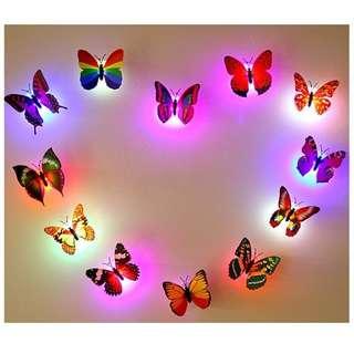 Kupu-kupu Led Hiasan Dekorasi Rumah dll