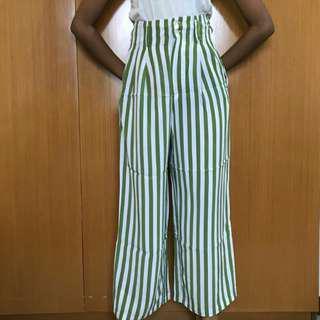 High waist putih hijau