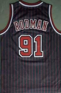 Dennis Rodman Bulls Pinstripe