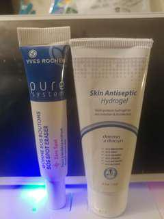 Yves Rocher 😍💯🆕🈹 sos sport Eraser 10mg & Skin Antiseptic Hydrogel Cream 15g (每支$20)