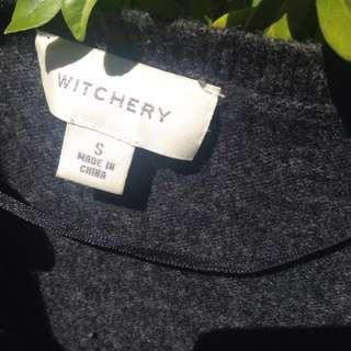 80% lambswool witchery grey jumper sz S ( best fit size 8)