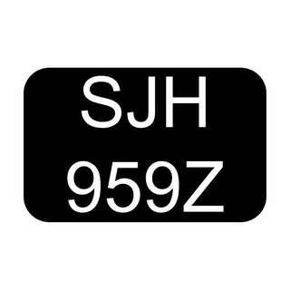 GOLDEN BIDDED NUMBER CAR REGISTRATION PLATE 95 59 959 SJH959Z