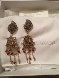 Atelier Swarovski x Eric Daman Dream Catcher Natural Stone Crystals Statement Drop Earrings