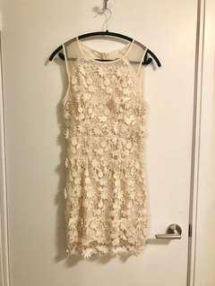 3D floral appliqué dress