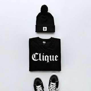 🚚 Cliquye Style Front Unisex Design Apparel  Tshirt Tee